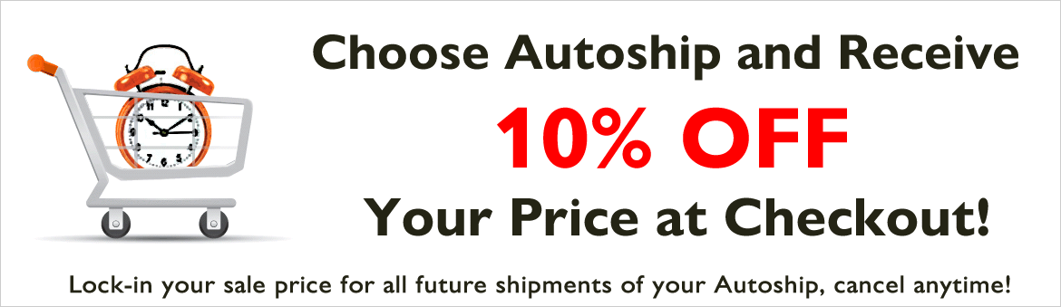 10% off all Autoships!