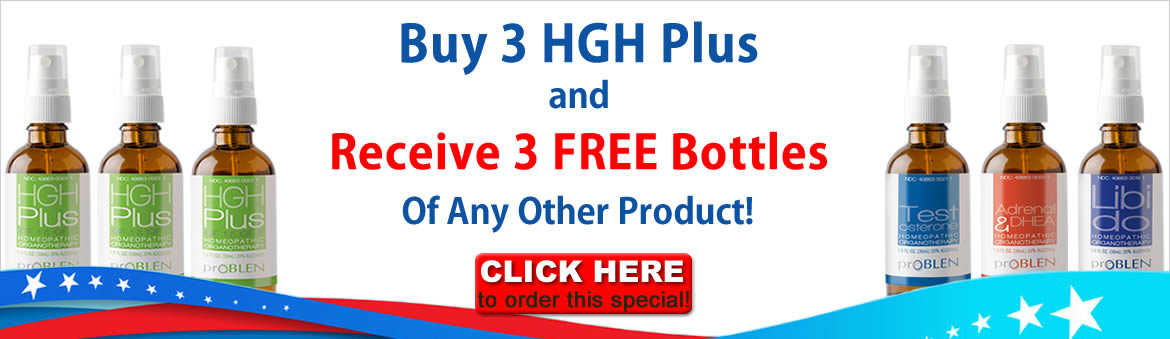 Buy 3 HGH Plus Get 3 Bottles of Another Product Free!